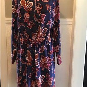 Liz Claiborne Poly Paisley Print Wrap Dress XL
